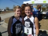 Best friends enjoy the experience of running state