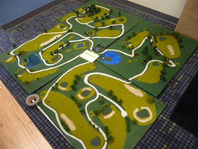 Senior Project model golf course