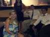 Juniors Anna Galloway, Chris Figeuroa, and John Crowder with Senior Yianna Kyriacou Take a Break from Dancing to Talk