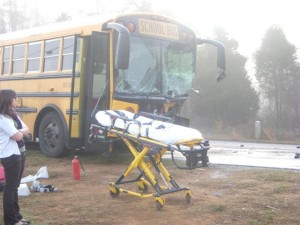 Bus Wreck In Front of School Has Students Talking