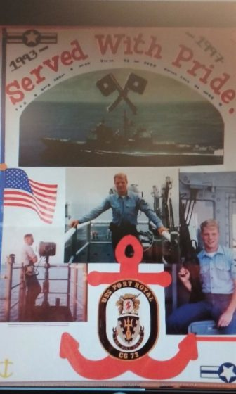 Mr. Fleming serving in the Navy out in the Pacific Ocean (Photo courtesy of Tracey Fleming).