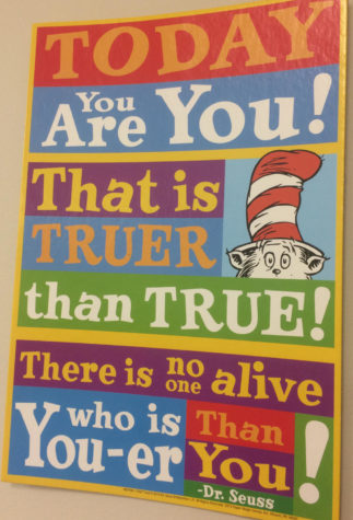 "One's own uniqueness should be embraced, not withheld. Dr. Seuss says it well, ""Today you are you, that is truer than true. There is no one alive who is you-er than you."" (Photo taken by Ethan Lamont)."