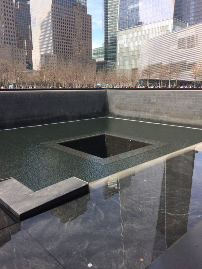 The memorial where the Twin Towers stood (Photo courtesy of Maureen Shuler).