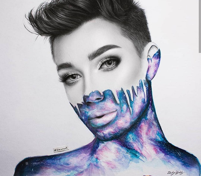 James Charles's creativity and confidence has greatly influenced all of his viewers. This influence can be seen by this fan's own version of Charles's New Years makeup look (Photo courtesy of Instagram, photo credits to Dmitry Vysotsky).