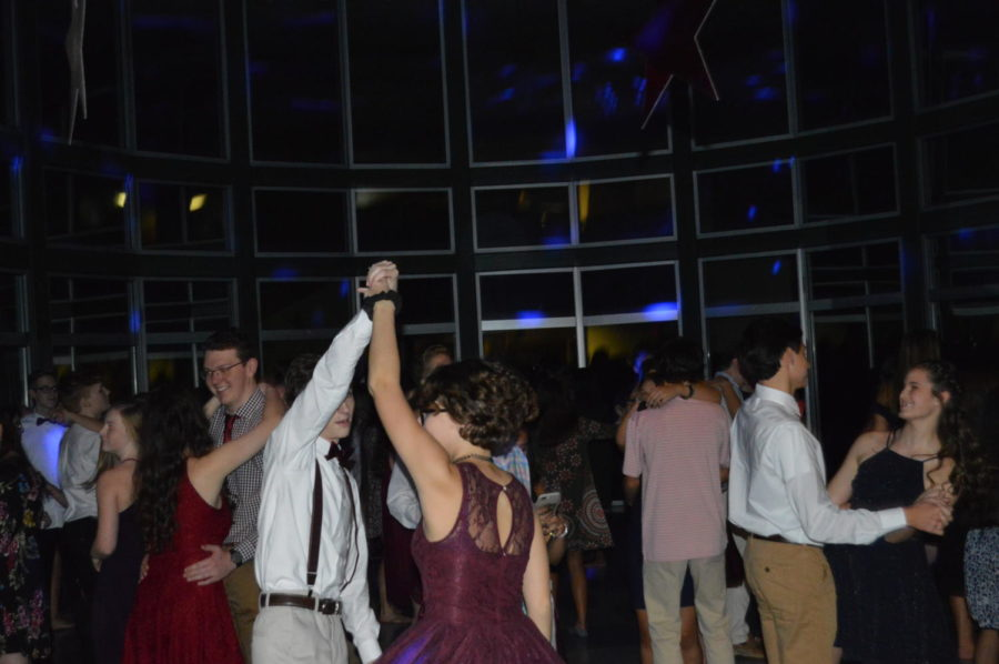After a few hours of fast paced songs, the DJ decided to slow things down with some songs like Die a Happy Man by Thomas Rhett and Thinking Out Loud by Ed Sheeran. They were a hit! (Photo courtesy of Mallory Smith)