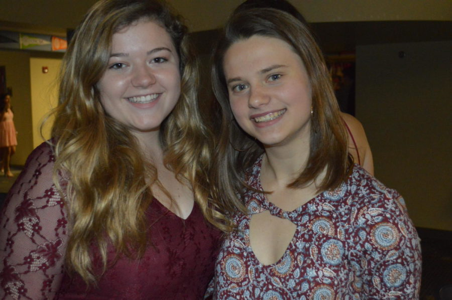 """Juniors Anna Jernigan and Emily Mages had a blast at the first dance of the year!  """"I thought the dance was a lot of fun because I was with some of my closest friends,"""" said Jernigan (Photo courtesy of Mallory Smith)."""