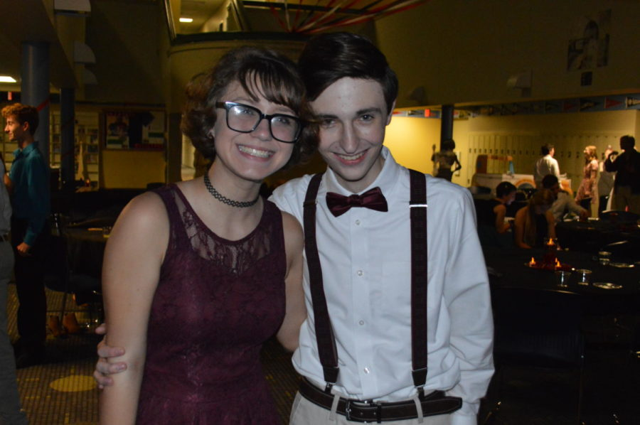 Freshman Jamiee Smith and guest Jace Erwin posed for a quick picture while taking a break from the dance floor (Photo courtesy of Mallory Smith).