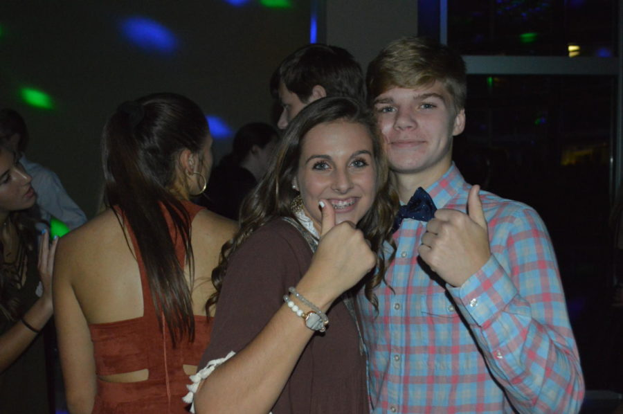 Sophomore Caroline Roller and her guest Hudson Lewis had a great time dancing the night away! (Photo courtesy of Mallory Smith)