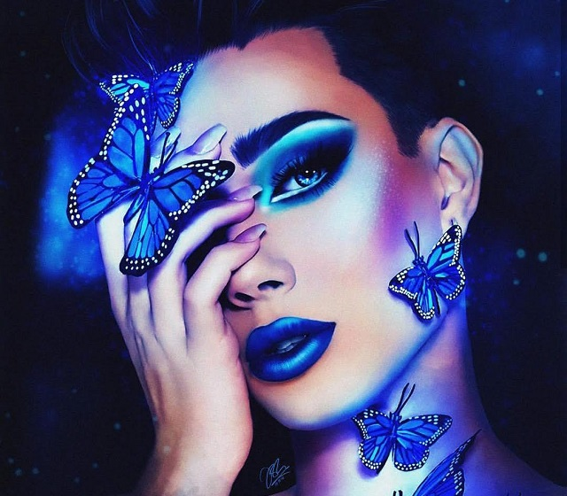 James Charles fan, Irum Hafeez, created a digital replica of one of James Charles's marketing makeup looks that Charles created using his palette (Photo courtesy of Instagram, photo credits to irumhafeesart).