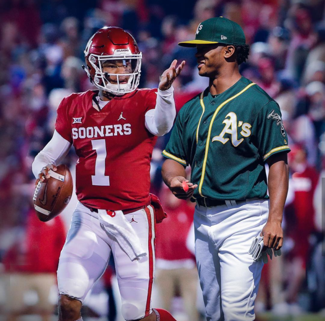 By going to play in the majors for baseball, Kyler Murray will join a club, alongside Vic Janowicz and Bo Jackson, of players who won the Heisman and then went on to play in the MLB (Photo courtesy of MLB, @MLB on Instagram).