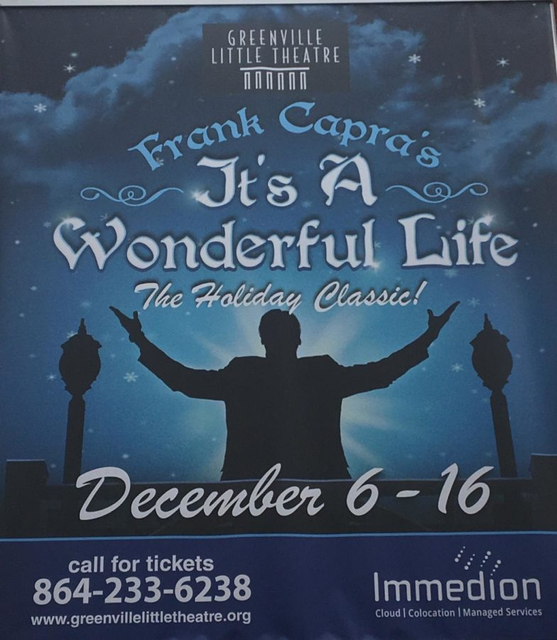 Just like the poster in the Haywood Mall implies, life can be wonderful if you choose to make it, especially around this holiday season (Photo courtesy of Ashlyn Athey).