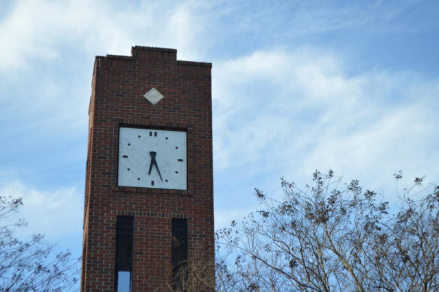 The+Historic+Simpsonville+Clock+Tower+was+donated+by+former+mayor+Ralph+Hendricks%2C+who+served+as+mayor+from+1975+to+1987.+Without+Hendricks%2C+Simpsonville+would+not+have+things+such+as+the+development+in+downtown%2C+the+library%2C+and+of+course%2C+the+Clock+Tower.+Hendricks+contributed+to+the+city+in+big+ways+and+Simpsonville+was+saddened+by+his+loss+when+he+passed+on+February+17%2C+2019+at+the+age+of+101.+%E2%80%9CThe+Clock+Tower+is+one+of+my+favorite+parts+of+Simpsonville+because+it+is+such+an+iconic+part+of+our+little+town.+Whenever+you+think+of+Simpsonville%2C+you+think+of+the+clock+tower%2C%E2%80%9D+said+junior+Jordan+Oppatt+%28Photo+courtesy+of+Mallory+Smith%29.