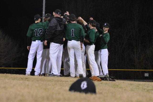 With the school year coming to a close, many other things are ending as well. With only a few weeks left of school, many of the students are savoring the bittersweet memories they have made this school year. The Brashier baseball team is no different (Photo courtesy of Mallory Smith).