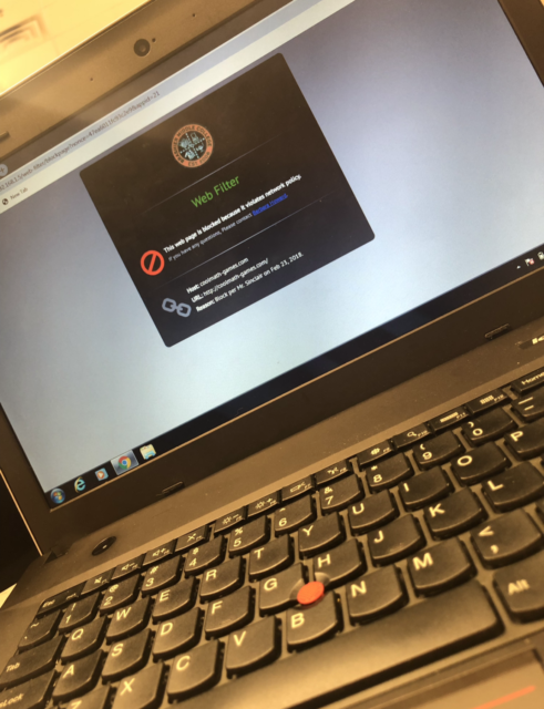 Even CoolMath.com is blocked on Brashier computers! (Photo credits to Kamryn Mattison)