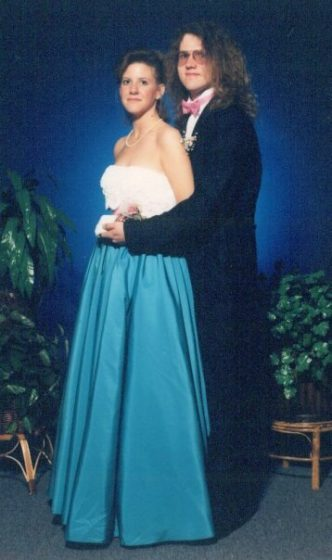 Maureen+Shuler+attended+her+junior+and+senior+proms+with+the+same+date.++%E2%80%9CI+went+with+a+date+and+another+couple+to+prom.+Before+the+prom%2C+we+went+to+Kanpai+of+Tokyo+for+dinner+and+the+man+flung+a+shrimp+in+my+date%E2%80%99s+luscious+locks.+The+night+was+really+great%2C+but+the+fashion+trends+were+way+different+than+they+are+now%3A+the+bigger+the+hair+the+better%2C+hot+pink+%5Beverything%5D%2C+and+big+old+hoop+skirts.+I+think+a+lot+of+people+missed+out+on+going+to+prom+because+going+to+prom+with+just+friends+was+unheard+of.+Without+a+date%2C+people+just+didn%E2%80%99t+go%2C%E2%80%9D+said+English+teacher+Maureen+Shuler+%28Photo+courtesy+of+Maureen+Shuler%29.+