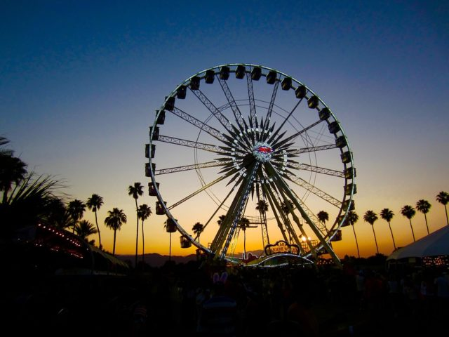 The Coachella venue includes the ferris wheel called Le Grande Wheel, which has become one of the most iconic parts of the festival (Photo courtesy of Pixabay, photo credits to DomCarver).