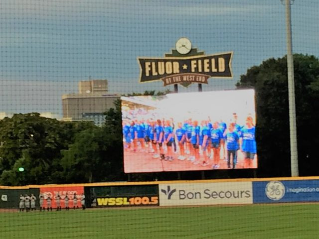 Greenville has had many different baseball teams that have played and entertained the people of the Upstate, including its current team The Greenville Drive, which plays in Flour Field  (Photo courtesy of Melinda Davidson).