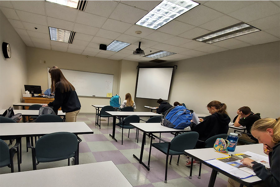 A typical college classroom, photo taken at Greenville Technical College (Photo courtesy of Madison Crumpton).