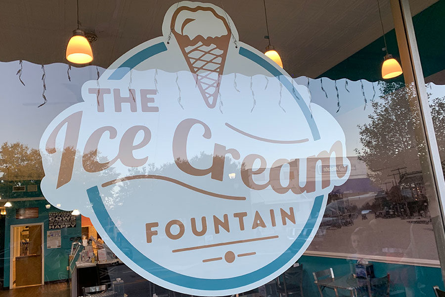 """Even the small businesses in the city have a huge impact on the community, such as The Ice Cream Fountain. """"My favorite place in Fountain Inn is The Ice Cream Fountain because you can just go get an ice cream and walk around the little town,"""" said junior Brandon Lovell (Photo courtesy of Emily Fleming)."""