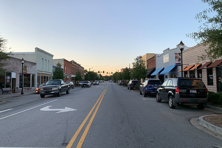 """""""Along Main Street on Friday and Saturday nights, everyone knows everyone and the people of Fountain Inn are more willing to support small-town businesses and everyone that they know,"""" said Garrett (Photo courtesy of Emily Fleming)."""