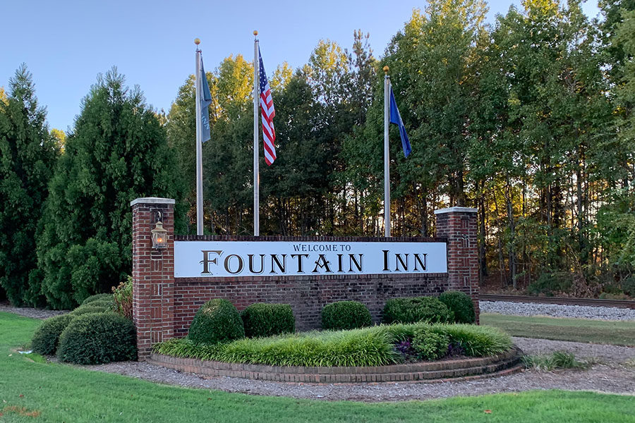 """When you think of a small town, Fountain Inn is probably one that may come to mind. Between the close community and huge celebrations, it stands out from other small towns. """"I'd say the small-town feel has a lot to do with why Fountain Inn is so special. Even though it is growing at a rapid rate, the small-town feel is still there,"""" said Fountain Inn firefighter Jody Garrett (Photo courtesy of Emily Fleming)."""