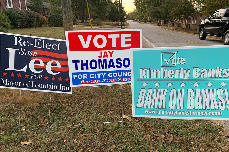 An election is coming up for a new mayor, city council members, etc. bringing new faces and ideas to the city (Photo courtesy of Emily Fleming).