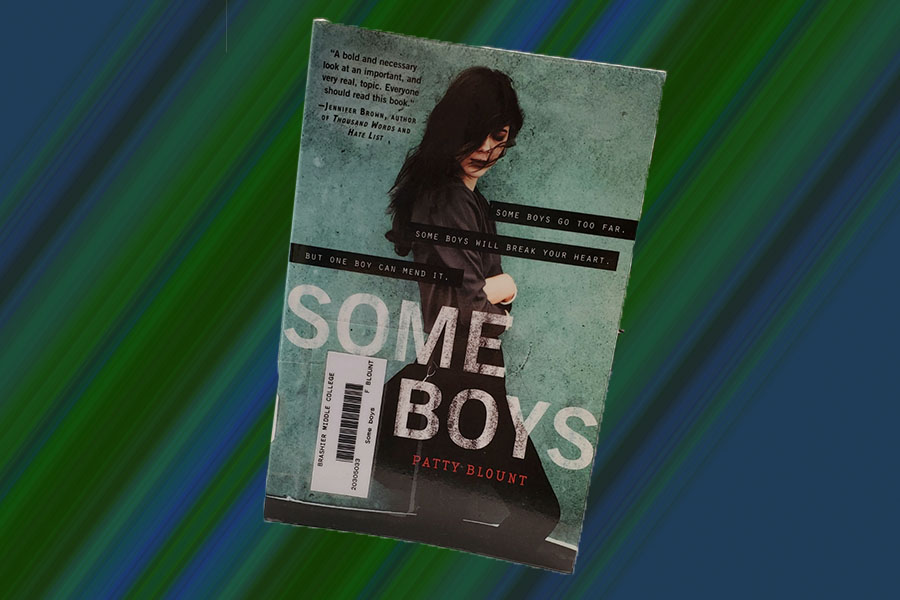 Brashier's copy of Some Boys by Patty Blount, the book that left me with an unsettling realization (Photo courtesy of Madison Crumpton, photo art courtesy of Alexander Gray).