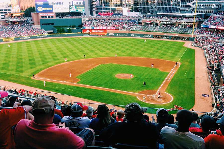 This image contains a photo of SunTrust Park. It is home to the MLB team, the Atlanta Braves, in Atlanta, Georgia (Photo courtesy of Gary Jarrett).