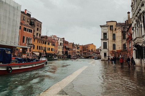 The historic city of Venice, Italy becoming overtaken by flooding waters (Photo courtesy of Mallory Smith, photo credits to Allie Ward).