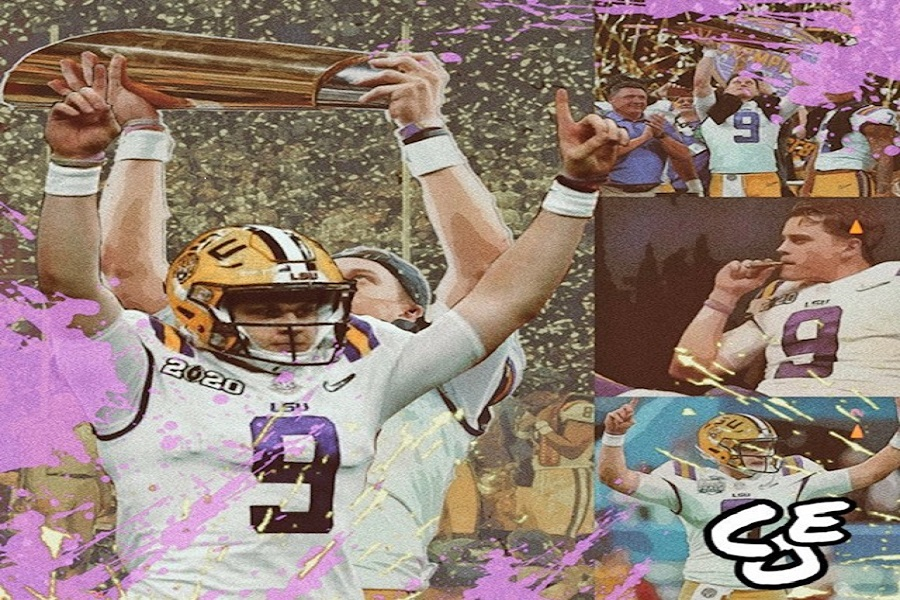 Everybody+doubted+Burrow%2C+but+he+blocked+out+the+noise.+Now+he%E2%80%99s+a+National+Champion+%28Photo+courtesy+of+Instagram%2C+photo+credit+to+colinovermanedits%29.