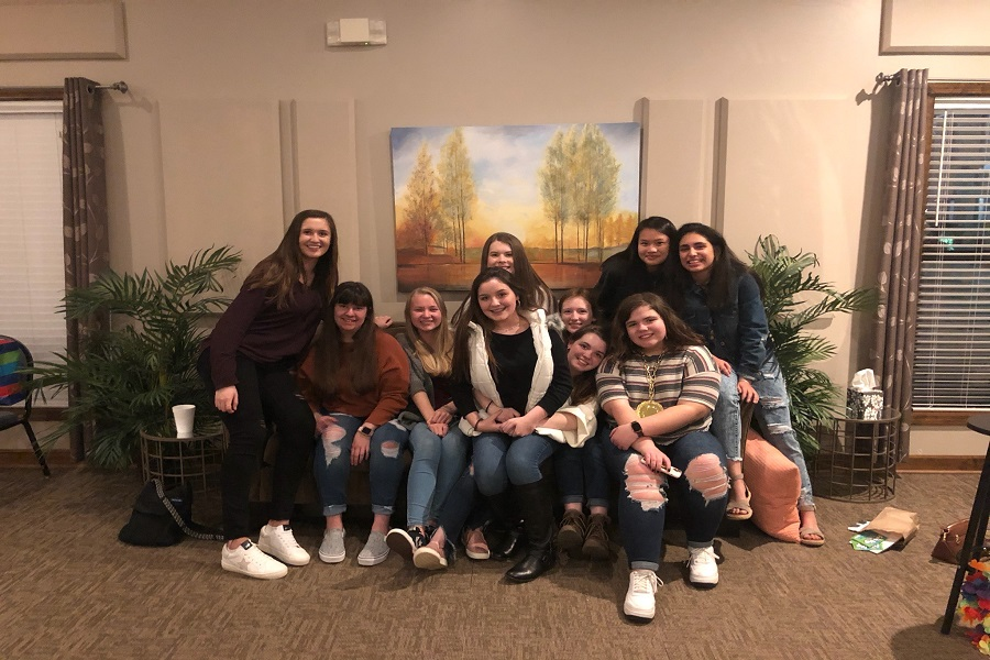 A surprise birthday party for BMC student, Leah Johnson. The party was thrown by her friends who love her very much, this is the prime example of Philos. (Photo courtesy of Genevieve Finizzia)