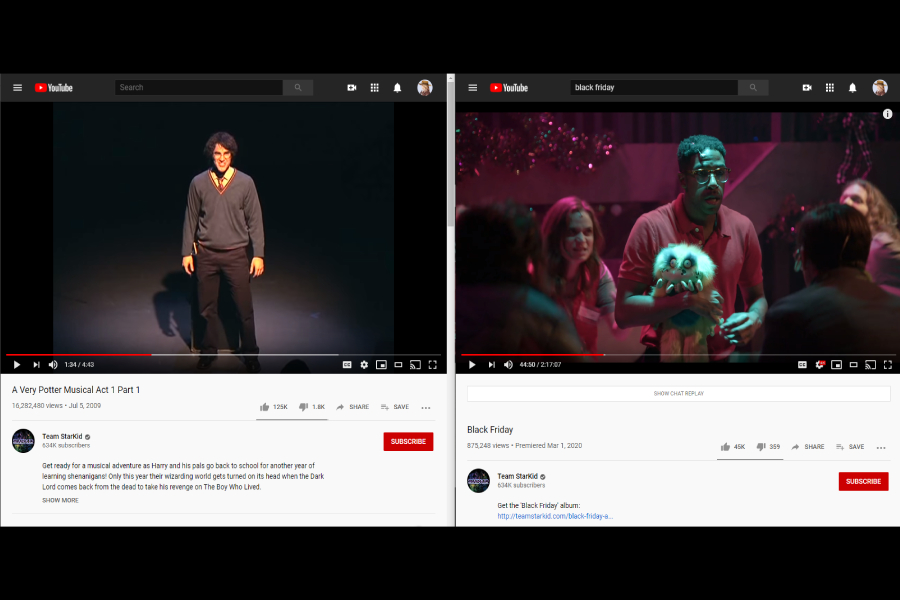 Starkid+has+greatly+evolved+from+its+origins+in+2009+with+A+Very+Potter+Musical+to+its+newest+2019+musical+Black+Friday+%28Photo+courtesy+of+Peyton+Ludwig%29.