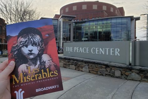 Les Misérables visited Greenville's own Peace Center to perform one of the most unique, tragic, and beautiful musicals on Broadway (Photo courtesy of Grace Daniel).
