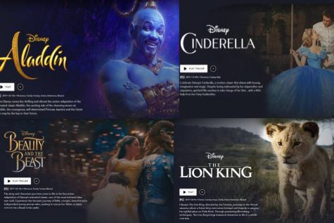 Disney has released many live-action remakes in the last couple of years, including Aladdin, Cinderella, Beauty and the Beast, and The Lion King (Photo courtesy of Peyton Ludwig).