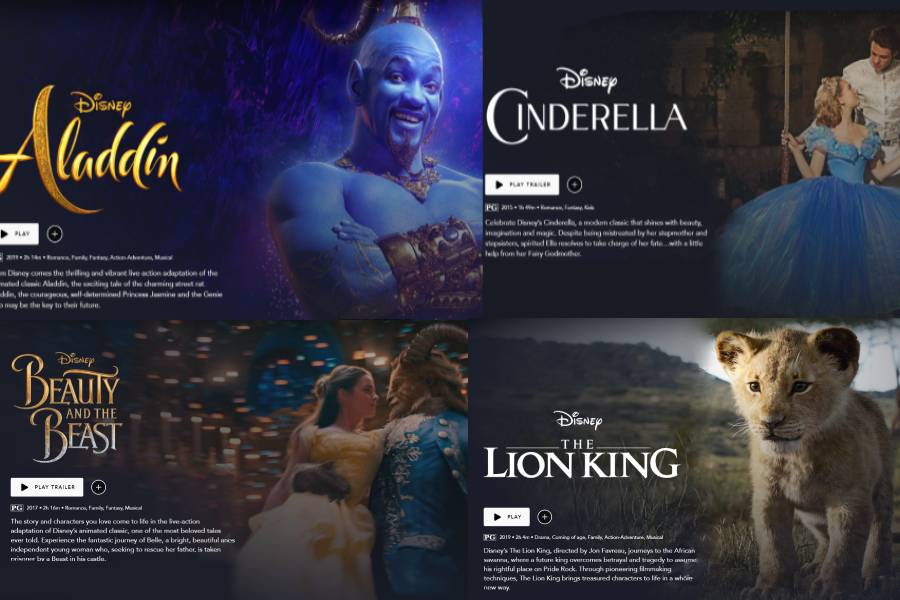 Disney+has+released+many+live-action+remakes+in+the+last+couple+of+years%2C+including+Aladdin%2C+Cinderella%2C+Beauty+and+the+Beast%2C+and+The+Lion+King+%28Photo+courtesy+of+Peyton+Ludwig%29.