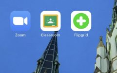 Zoom, Google Classroom, and Flipgrid are a handful of applications schools and businesses are using to stay involved while staying at home (Photo courtesy of Enoch Orozco).