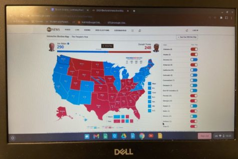Current projected electoral map as of the 19th of November, 2020. Results are essentially finalized but not guaranteed (Photo Courtesy of Enoch Orozco).