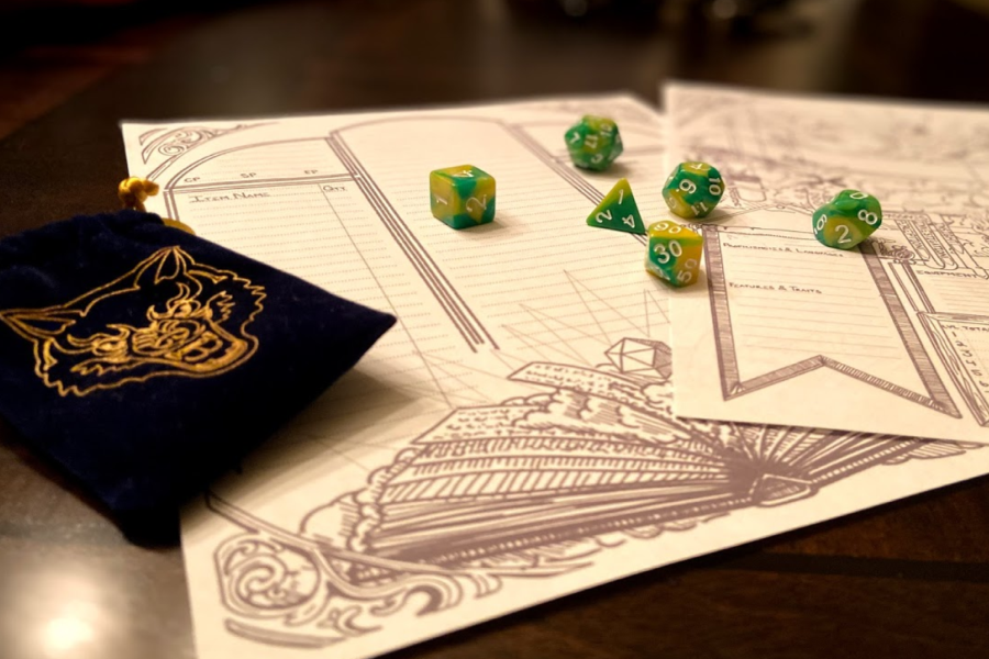 In order to play Dungeons & Dragons, all you need is paper, a pencil, and dice (photo courtesy of Peyton Ludwig).