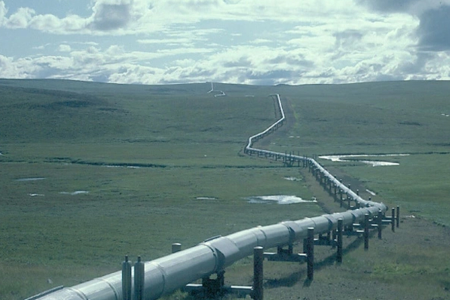 The keystone pipeline was responsible for all American Oil, and it's closure is a key factor in why gas and oil prices have increased. (Photo courtesy of Mother Jones)