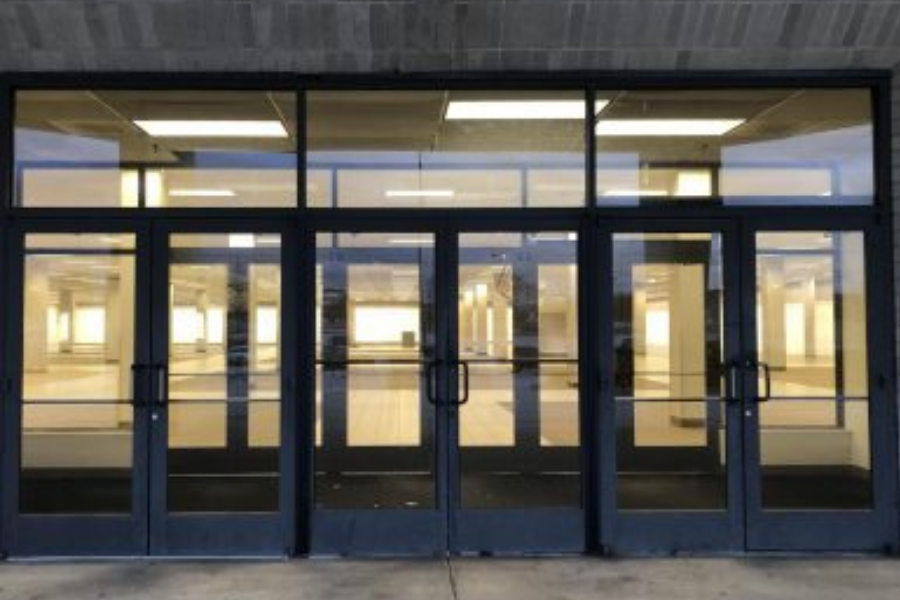 Pictured, the former location of a Sears store inside the Haywood Mall sits empty, leaving a large whole in the end of the shopping mall. (Photo Courtesy of Mattie McConnell, Photo Credits to Mattie McConnell)