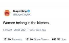 The controversial tweet from Burger King before it got deleted. Photo Courtesy of Enoch Orozco
