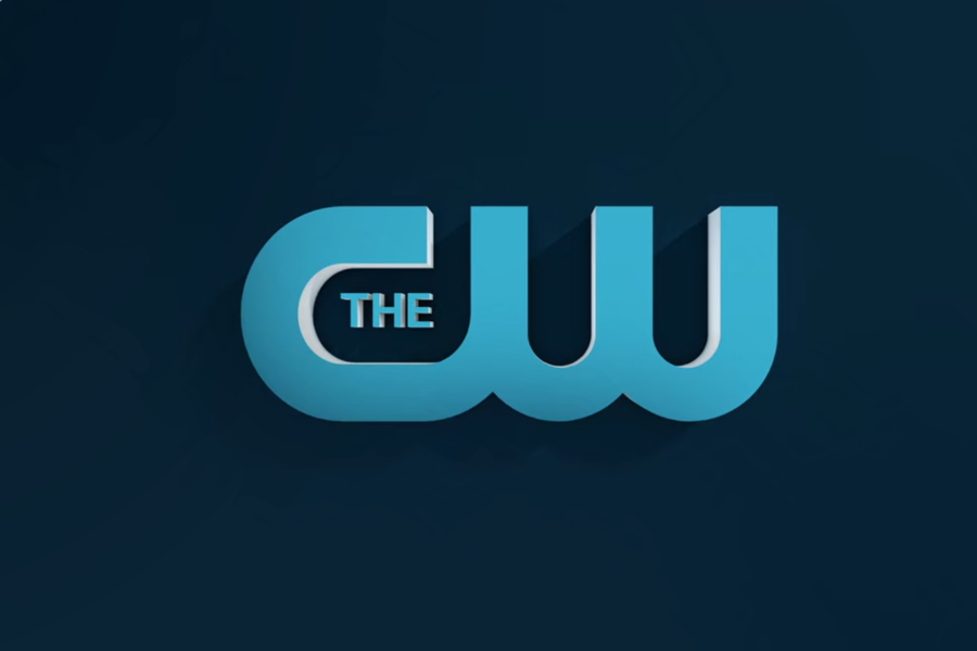 The CW logo that appears in the introduction of every TV show.