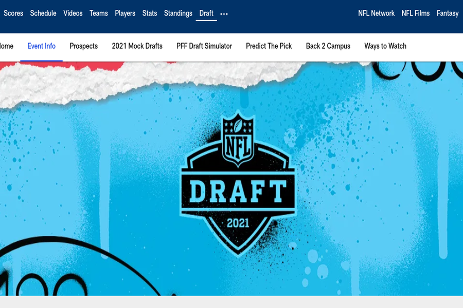 The NFL draft is an anticipated event which has months of speculation before it. (Photo credits to NFL.com, photo courtesy of Tyler Davidson)