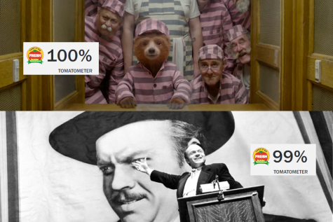 On Rotten Tomatoes, critics rate Paddington 2 at a 100%, outscoring Citizen Kane's rating of 99% (photo credit to Heyday Films, Mercury Productions, and Rotten Tomatoes, photo courtesy of Peyton Ludwig).